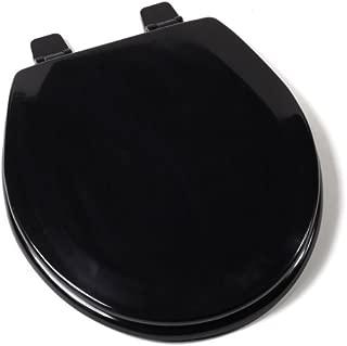 Comfort Seats C1B4R2-90 Deluxe Molded Wood Toilet Seat, Round, Black