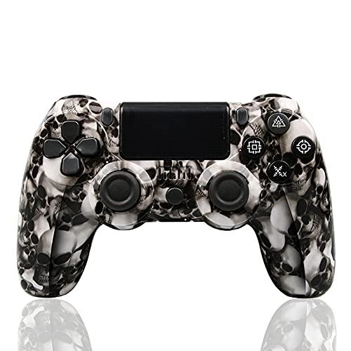 Mando Inalámbrico para PS4, Inalámbrico Mando para Playstation 4/Pro/Slim/ PC Inalámbrico Controlador Wireless Bluetooth Gamepad Joystick (B)