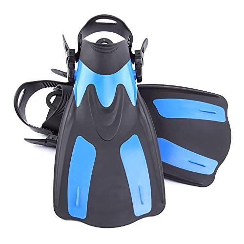 Aletas de Snorkeling, Aletas de natación Ajustables, Snorkeling Pie Flipper con talón Ajustable, Aletas de Buceo para Nadar Buceo Snorkeling Water Sport,Azul,XS/M