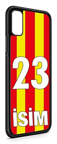 aina Kompatibel mit Huawei Mate 20 Pro Silikon Handyhülle Flexibles Slim Hülle Cover Cubuklu Sari Kirmizi Forma