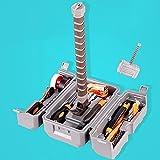WXking Set de herramientas de martillo portátil Establecer caja de almacenamiento Multifuncional llave inglesa destornillador alicates linterna Herramientas de mano Herramientas de reparación de la he