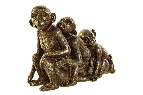 Vidal Regalos Figura Decorativa Resina Monos Dorados 24x18 cm