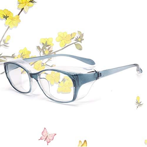 JIMMY ORANGE 花粉 メガネ ゴーグル [ブルーライト 紫外線 粉塵 飛沫 にも対策 ] 目立たない 伊達めがね 曇らない レディース メンズ 眼鏡102 花粉症 メガネブルー