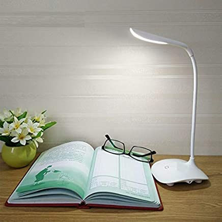 SaleOn™ LED Touch On/Off Switch Desk Lamp/Student Study Reading Dimmer Rechargeable Led Table Lamps(White)-761