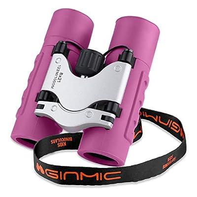 Binoculars for Kids, 8 x 21 Real Optics Mini Compact Kids Binoculars with Neck Strap - Waterproof Children's Binoculars for Spy Camping, Bird Watching - Telescope Toys for 3-12 Years Boys Girls
