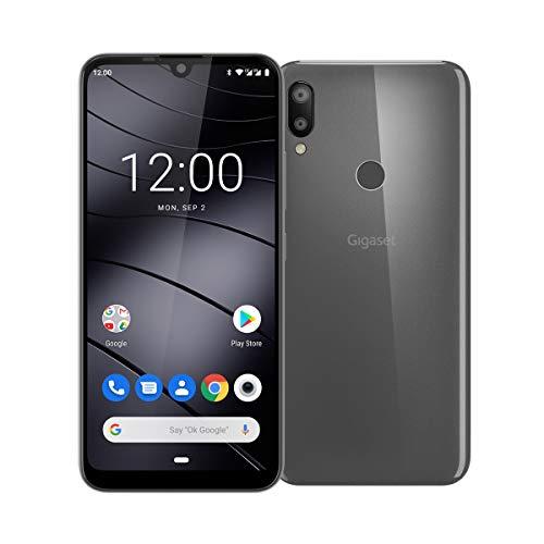 Gigaset GS190 Smartphone ohne Vertrag (15,49 cm (6,1 Zoll) V-Notch HD+ Display, 2GB RAM, 16GB Speicher, mit Android 9.0 Pie) titanium grey