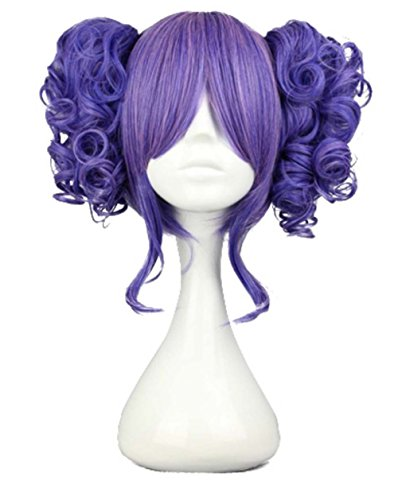 etruke Anime Girl Violet Lolita clip sur Lot de 2 queue de cheval cosplay perruques