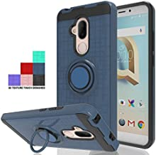 Wtiaw Phone Cases:Alcatel 7 Case,Alcatel 7 Folio Case,Alcatel ACTL6062 Case,T-Mobile Revvl 2 Plus Case(2018),Alcatel 7 (6062) Case,360 Degree Rotating Ring Kickstand Case for Alcatel 7-CH Metal Slate