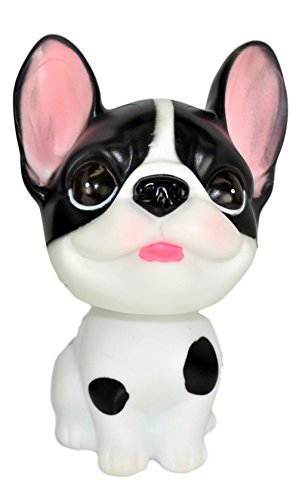 """SM.Y.Toys & Accessories French Bulldog Bobblehead Mini Toy 4"""" Tall. Relaxing Mini Toy for Office,Home or Car. Limited Edition."""