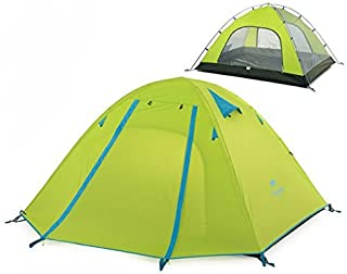 Azarxis 1 2 3 4 Person Man Tents 3 Season Easy Set Up Large Space Two Doors Waterproof Lightweight Professional Double Layer Aluminum for Family Backpacking Camping Hiking