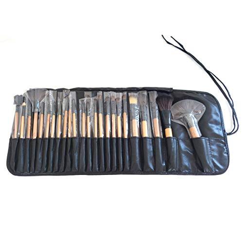 Kit pincel de maquiagem com 24 peças e estojo