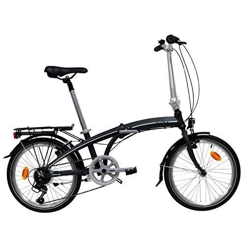 ORUS Unisex's Folding Bike, Black, 20'