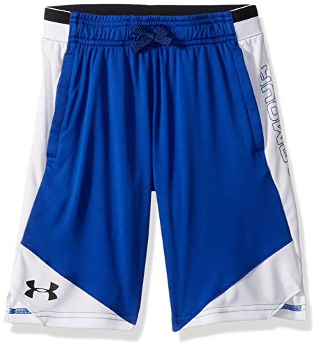 Under Armour Boys' Stunt 2.0 Workout Gym Shorts , Royal (401)/Black , Youth X-Large