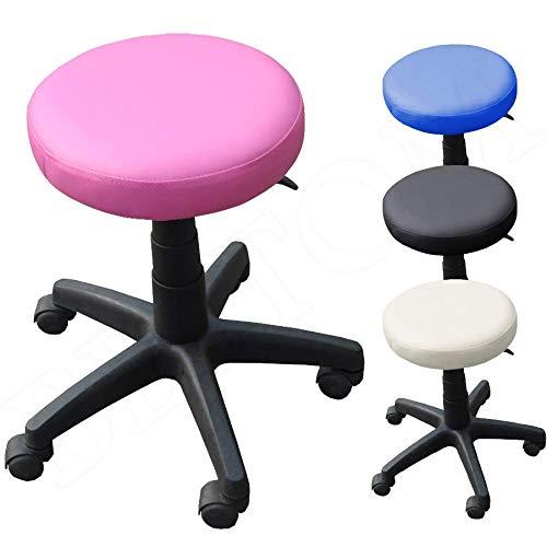 Rollhocker Arbeitshocker Drehhocker Kosmetikhocker Drehstuhl Stuhl Bürostuhl - Pink