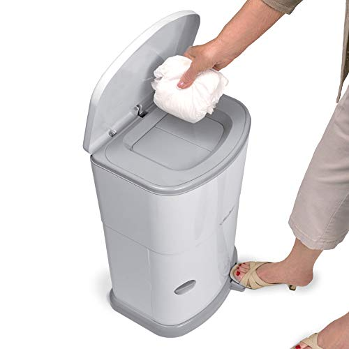 Akord Slim Incontinence Disposal System with Odor Lock, Discrete Style, White, 20' H X 11' W X 9.5' D