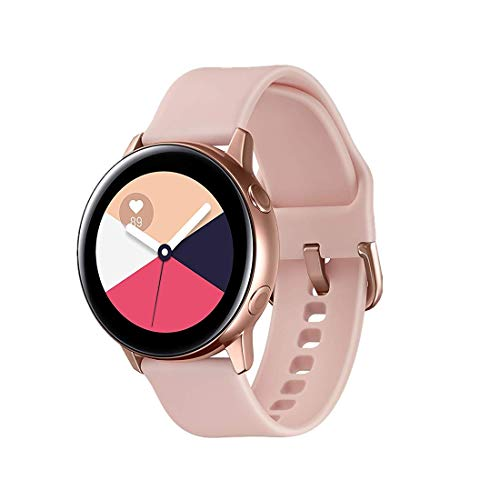 TECKMICO Galaxy Watch Active Bands,20mm Quick Release Bands Compatible for Samsung Galaxy Watch Active (40mm)/Galaxy Watch(42mm)/Gear Sport with Rose Gold Watch Buckle (Rose Pink, Small)