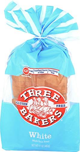 Three Bakers, Bread White Whole Grain, 17 Ounce