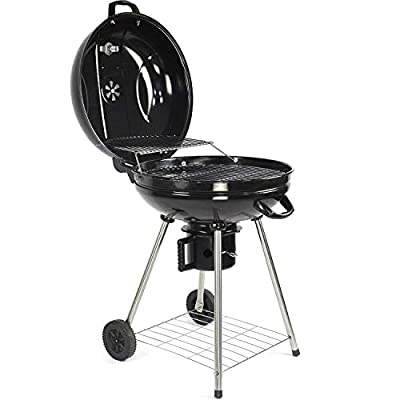 I IHAYNER Original Kettle Premium Charcoal Grill 22inch Outdoor Garden Patio Kettle Round Charcoal BBQ Kettle Steel Grill