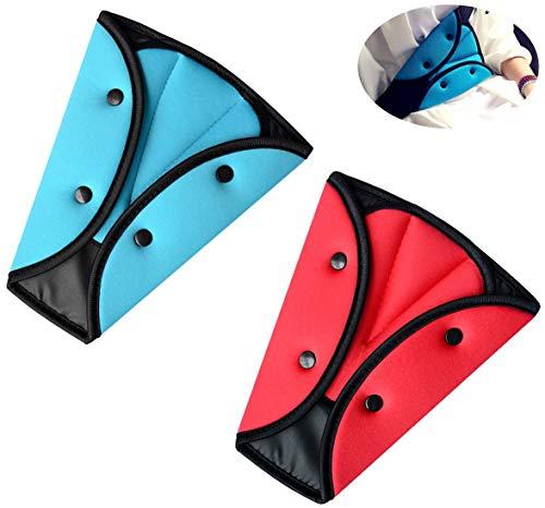 MHwan ajustador del cinturón de seguridad, Cinturones de seguridad para niños, Hebilla ajustable del triángulo del cinturón de seguridad para niños adultos, 20x24.5cm, 2 piezas