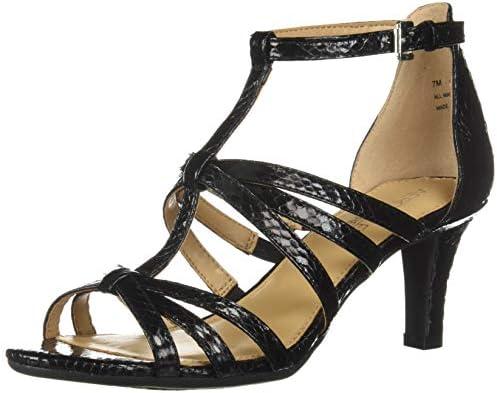 Aerosoles Women s PASSIONFRUIT Heeled Sandal Black Snake 8 5 M US product image