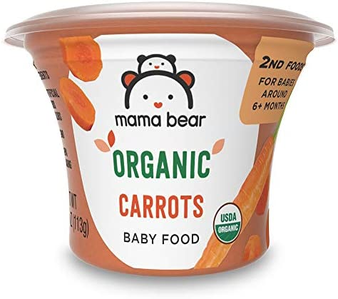Amazon Brand Mama Bear Organic Baby Food Carrots 4 Ounce Tub Pack of 12 product image