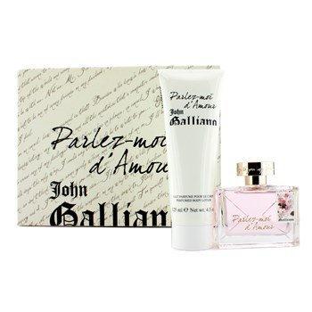 John Galliano–Parlez-Moi d 'Amour estuche: Eau de Toilette Spray 50ml/1.7oz + Perfumed Body Lotion 125ml/4.2oz 2pcs–Mujer Perfume