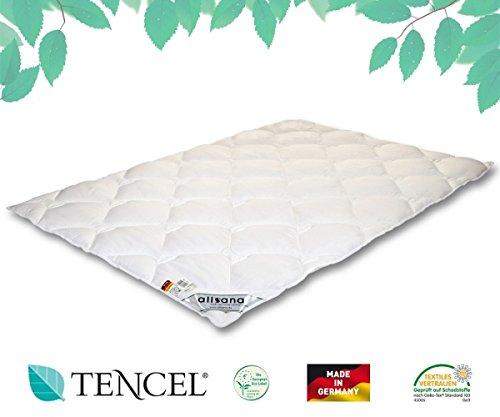 allsana Tencel® Klimafaser Steppbett 135x200 cm, Lyocell Ganzjahresdecke für Allergiker, waschbar bei 60°C, Tencel Bettdecke bei Allergie