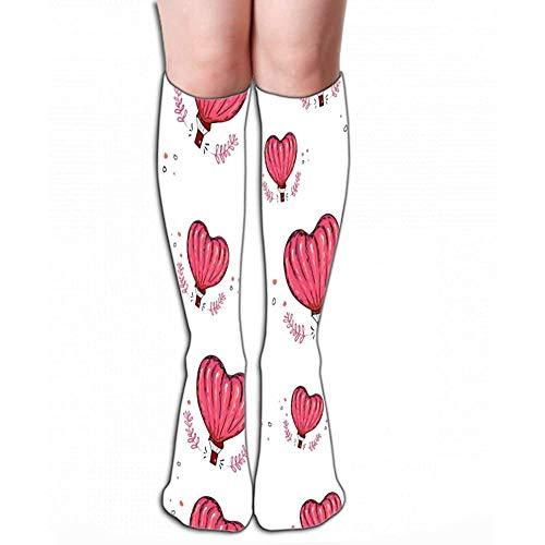 Hoge Sokken Voorraad hete lucht ballon hart liefde perfecte behang vullen web pagina oppervlak texturen textiel Grafische Tegel lengte 19.7