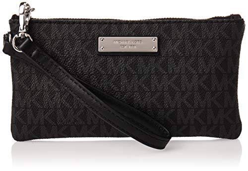 MICHAEL Michael Kors Signature Jet Set Item Medium Wristlet Black