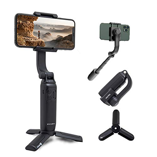 FeiyuTech Vimble One Gimbal Stabilizer for iPhone Android Smartphone, Anti-Shake Foldable Gimbal Handheld Selfie Stick Tripod Phone Holder with 18cm Extensional Stick, Vlog Youtuber Live Video TikTok