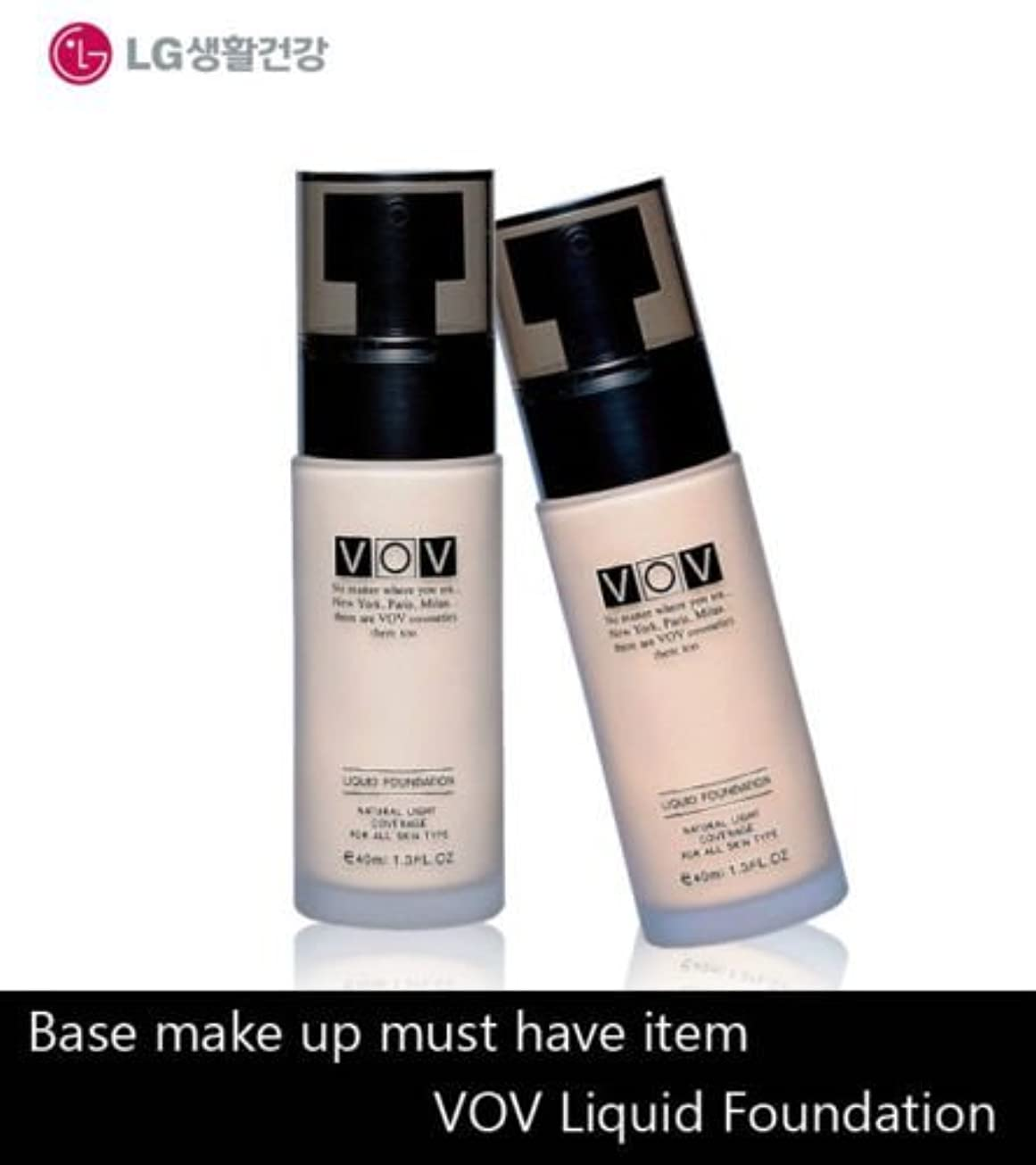 過去満足させる西部LG Cosmetics VOV Liquid Foundation 40ml/Make-Up Base/Korea Cosmetic (#21 Natural Beige) [並行輸入品]