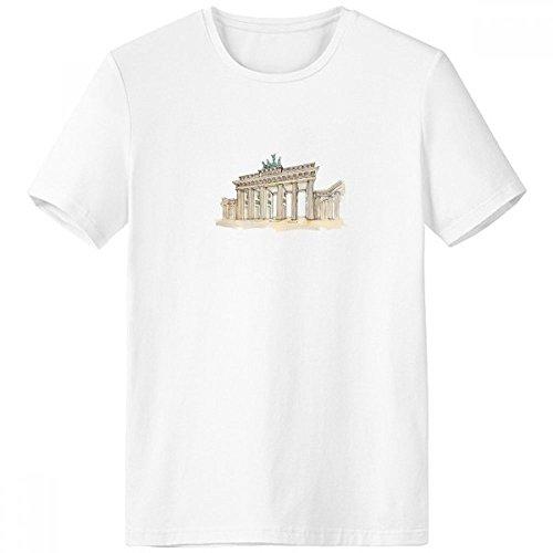 DIYthinker Brandenburg Tür in Ost-Deutschland Rundhals Weißen T-Shirt Frühlings-Sommer-Tagless Comfort Sport-T-Shirts Geschenk - Multi - XXXL