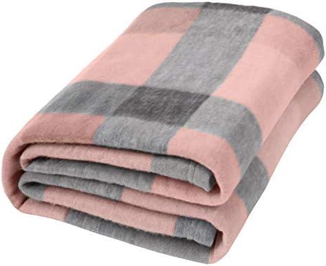 Dreamscene Blush Winter Check Fleece Blanket Super Soft Warm Cosy Sofa Bed Picnic Garden Throw product image