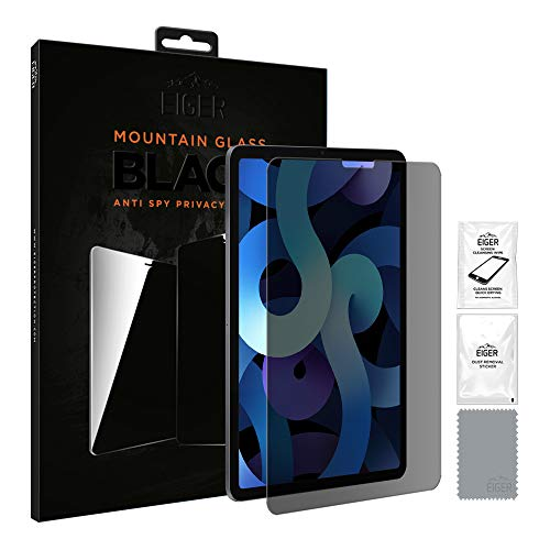 EIGER Mountain Glass - Protector de pantalla para iPad Air (2020) y iPad Pro 11 (2018) y (2020), color negro