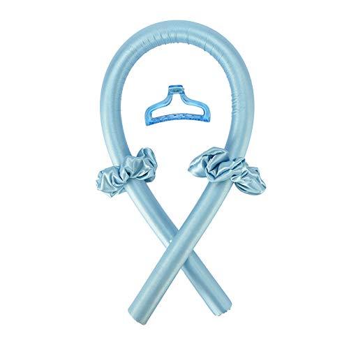 Sin BigudíEs De Calor,Productos De PeluqueríA,Rulos Flexibles Para El Pelo Profesional Para Largo/Corto/Rizos Accesorio De PeluqueríA Rizador (1X Clip 2X Cinta De Pelo 1X Rizador) (Azul)