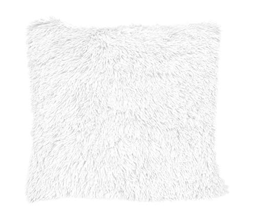 Nielsen Kissenbezug Chubby, 50x50 cm, Bright White (weiß), Dekokissen, Zierkissen, Sofakissen, extra flauschig und weich, Kuschelkissen, dekorativ und elegant