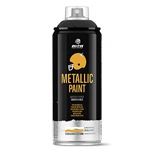 Montana Colors MTN PRO Metalizado Negro R-9011, Spray, Negro, 400 ml