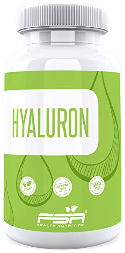 Hyaluronsäure 90 Kapseln, 400 mg pro Kapsel mit 500-700 kDa, Vegan - Made in Germany - FSA Nutrition