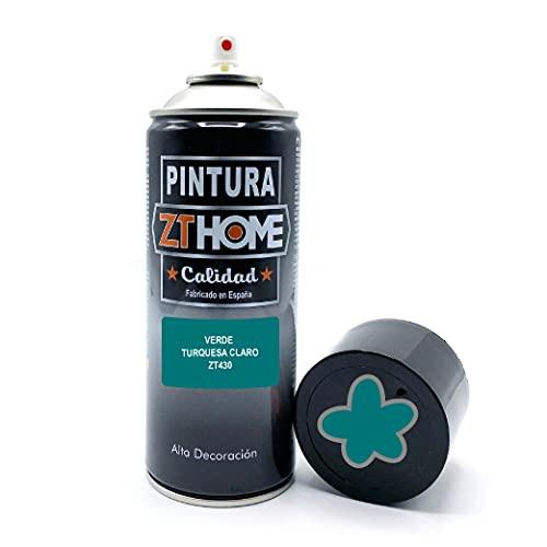 Pintura Spray Verde Turquesa Claro 400ml imprimacion madera, metal, ceramica, plasticos / Pinta todo tipo de superficies Radiadores, bicicleta, plasticos, microondas, graffiti - RAL 5021