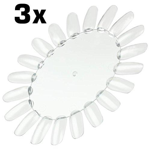 3x Präsentationsdisplay / Farbrad / Tip-Rondell mit 20 Tips transparent-klar (sehr stabil)...