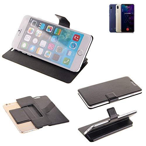 K-S-Trade® Handy Schutz Hülle Für Allview Soul X5 Style Flip Cover Handy Wallet Case Slim Bookstyle Schwarz