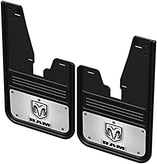Truck Hardware Gatorback Mud Flaps with RAM Head Logo (2009-2018 RAM - Front Pair (with OEM Flares))