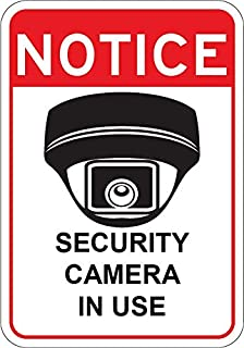 Video Surveillance Security Camera in Use Sign 7