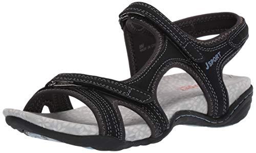 JSport by Jambu Women/'s Bath Encore Flat Black Active Sport Shoe 8M NEW
