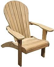 TITAN GREAT OUTDOORS Grade A Teak Adirondack Chair Indoor Outdoor Patio Solid Wood