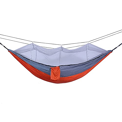 Hamaca Hamaca Portátil para Acampar Al Aire Libre para 1-2 Personas con Mosquitera, Cama Colgante, Columpio para Dormir, Soporte De Carga Fuerte