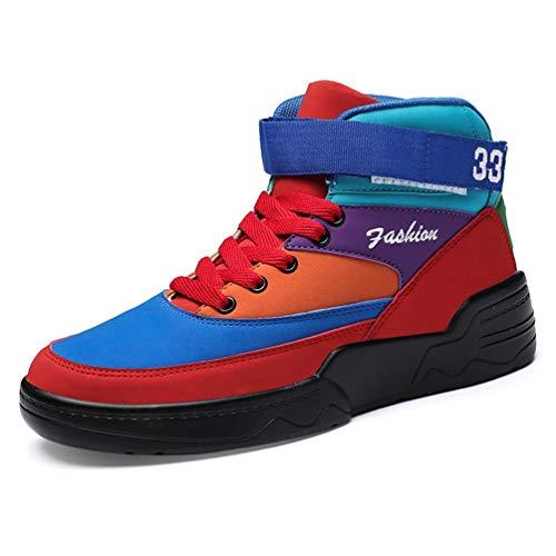Hombres Baloncesto Zapatos atlético al Aire Libre Cesta Zapatillas de Deporte de Tobillo Zapatos Deportivos Masculino
