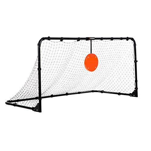 HAMMER Target Shot Pro, Fußballtor mit verstellbarer Zielscheibe, einfacher Auf- und Abbau, wetterfestes Qualitäts-Polyesternetz, Metall-Heringe zur Standfixierung, 182 x 95 x 92 cm