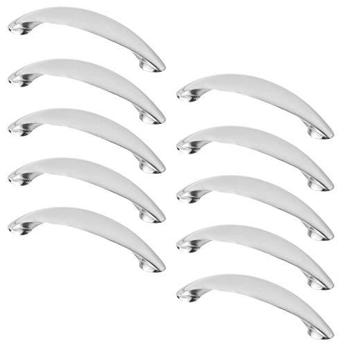 Gedotec Bogengriff Küche Möbelgriff Edelstahl Küchengriffe 96 mm - GRABBY | Bohrabstand 96 mm | Schubladengriffe aus Metall | Schrankgriff zum Schrauben | 10 Stück - Kommoden-Griff für Schubladen