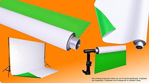 moderntex Vinylhintergrund Duo, 2m breit x 4m lang, grün & weiß, zweifarbig